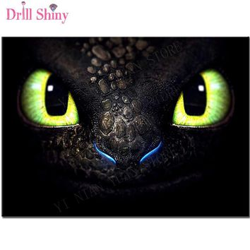 """Full Square Drill 5D DIY Diamond Painting """"Dragon eye""""picture 3D Embroidery Cross Stitch kits Mosaic Rhinestone Home Decor Gift"""