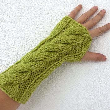 Fingerless gloves Winter Accessories Women Mittens Gloves Lemongrass Green Fingerless Glove