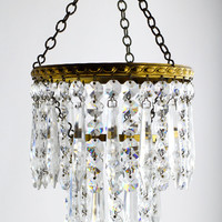 Small Crystal Chandelier - French 2 Tier Wedding Cake Light