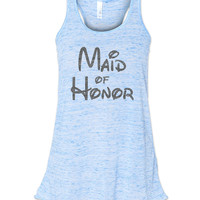 Blue Marble Disney Maid of Honor Tank by jCUBEDk