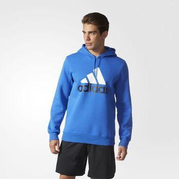 adidas Sport Essentials Logo Fleece Hoodie - Blue | adidas US
