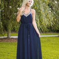 All That Remains Maxi Dress-Navy