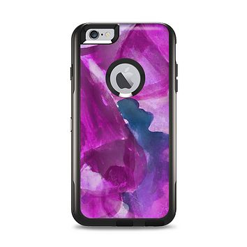 The Grunge Watercolor Pink Strokes Apple iPhone 6 Plus Otterbox Commuter Case Skin Set