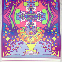 Peter Max Poster 2000 LIGHT YEARS Vintage 1968 Lithograph 2'x 3' Psychedelic Excellent Condition!
