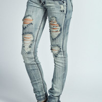 Danica Acid Washed Ripped Jeans
