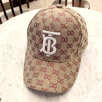 Burberry 219 new fashion simple TB letter stereo embroidery cap baseball cap #2