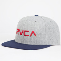 Rvca Twill Iii Mens Snapback Hat Grey/Navy One Size For Men 25477097901