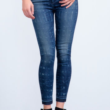 Rocket High Rise Skinny Crop in Faded Batik - Denim - CITIZENS of HUMANITY