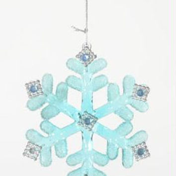 Christmas Ornament - Light Blue Snowflake