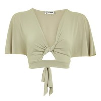 **Kimono Sleeve Twist Top by Love