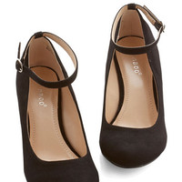 ModCloth Work Your Style Wedge in Black