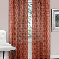 Ben&Jonah Collection Kent Window Curtain Panel - 52x84 - Coral