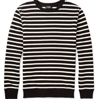 A.P.C. - Striped Loopback Cotton-Jersey Sweatshirt | MR PORTER