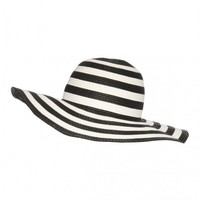 Monochrome Stripe Floppy Hat | Jane Norman
