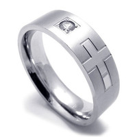 Ttainum Steel Men & Woman's Silver Ring-SIZE 10