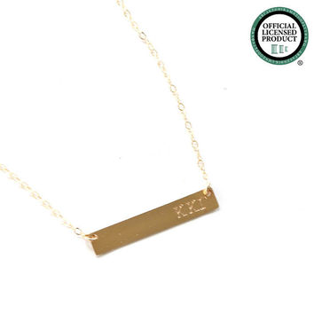 KAPPA KAPPA GAMMA Sorority Bar Necklace - Official Licensed Designer -  Hand stamped Sorority Jewelry / Greek Jewelry