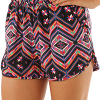 Behind The Shining Star Shorts: Black/Multi