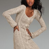 Cable-knit Scoopneck Sweaterdress