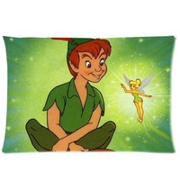 Disney Classic Cute Peter Pan Pandora Design Custom Zippered Pillow Case 20x30 (one side print)
