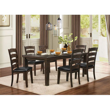 """Homelegance Pacific Grove Dining Table With 18"""" Leaf In Grey Undertone Brown"""