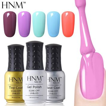 HNM Gel Nail Polish - Pure Colors