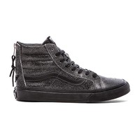 Vans SK8-Hi Slim Zip Sneaker in Black