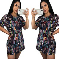 Fendi Fashion New Multicolor More Letter Long Section Top
