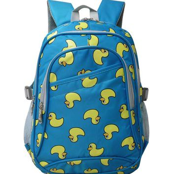 2017 Cute yellow duck printing Children School Bags for Boys Girls Primary Students Backpack Waterproof Schoolbag Kids Book Bag