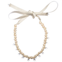 Pearl Necklace with Crystals by MAODUN