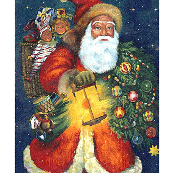 Santa Claus Tapestry Wall Art Hanging