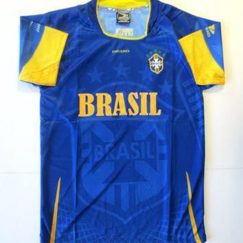 BRASIL YOUTH AWAY SOCCER JERSEY ONE SIZE (SIZE 16) FOR 12 TO 14 YEARS OLD.NEW