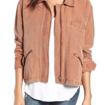 BP. Washed Linen Blend Jacket | Nordstrom