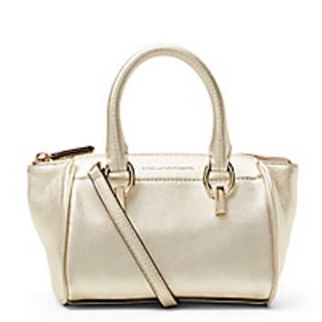 DVF Sutra Metallic Leather Mini Duffle Bag
