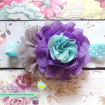 Aqua Purple Gray Headband, Big Baby Headband, Fall Hair Bows, Toddler Hairband, Hair Clip, Hair Accessories, Infant Headbands, Big Hair Bows