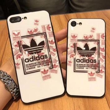 Gotopfashion Adidas 2017 Hot ! iPhone 7 iPhone 7 plus - Stylish Cute On Sale Hot Deal Matte Couple Phone Toughened Glass Case For iphone 6 6s 6plus 6s plus