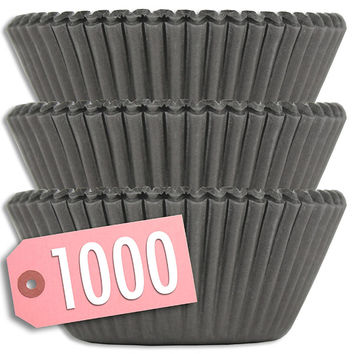 Solid Black Baking Cups 1000 pk