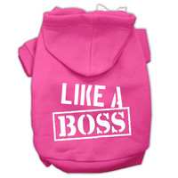 Like a Boss Screen Print Pet Hoodies Bright Pink Size XXXL (20)