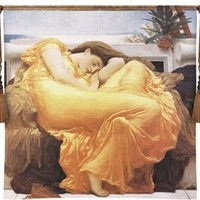 Flaming June Hanging Wall Woven Cotton Tapestry