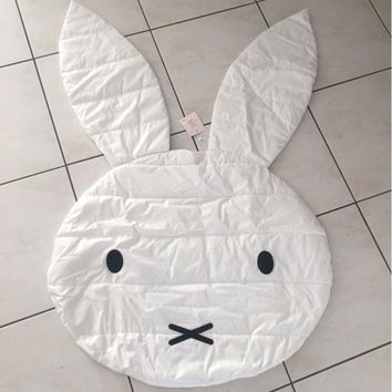 Rabbit Shaped Floor Blanket Baby Crawling Carpet Baby Floor Play Mats Kids Room Decoration Rugs Creeping Mat 106cm