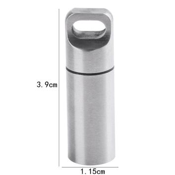 Mini Travel Pill Cases Stainless Steel Waterproof Outdoor Survival EDC Capsule Pill Bottle Emergency First Aid Capsule Container