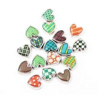Pop Art Heart Charm for Charm Locket Necklaces ~ Your Choice