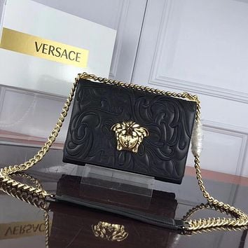 DCCK2 1207 Versace Medusa Logo Embroidered organ bag black