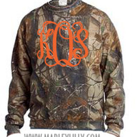 Monogrammed Realtree Camo Crewneck Sweatshirt | Personalized & Preppy | Marley Lilly