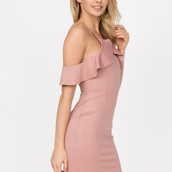 Leah Blush Ruffle Dress