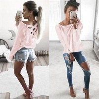 Hot  Womens Summer Long Sleeve Top