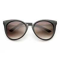 Oversize Womens Detailed Indie Cat Eye Sunglasses 9622