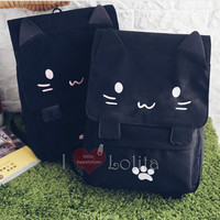 2 Colors Kawaii Smile Kitty Backpack LK17040735 from lolita store