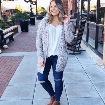 Riley Multi Color Chunky Knit Cardigan
