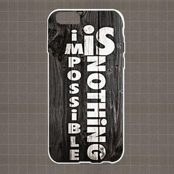 Imposible is Nothing - Adidas iPhone 4/4S, 5/5S, 5C Series Hard Plastic Case