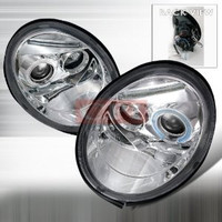 VOLKSWAGEN 1998-2005 VW BEETLE PROJECTOR HEAD LAMPS/ HEADLIGHTS 1 SET RH&LH   1998,1999,2000,2001,2002,2003,2004,2005